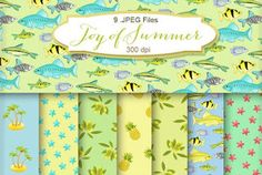New Freebies Kit of Backgrounds - Joy of Summer