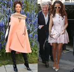 Rihanna In Christian Dior – Christian Dior Spring 2016 Front Row, Out In Paris