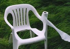 Perfect use for that plastic chair in the garage, and one more thing to tick off the earthquake-preparedness list!