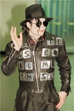 ♥ Michael Jackson ♥ - here he is in the initial jacket again - I need to do research to see what they stand for - i'm sure they stand for something - it's Michael ;)