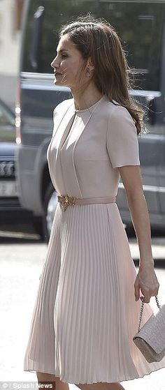 It has been a busy for the Spanish monarch, who opted instead for her favourite tailored t...