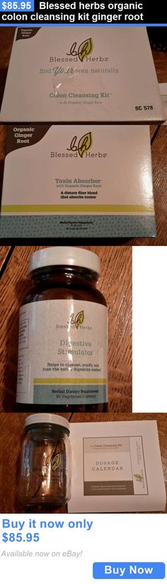 Detox and Cleansers: Blessed Herbs Organic Colon Cleansing Kit Ginger Root BUY IT NOW ONLY: $85.95