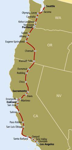 Coast Starlight route