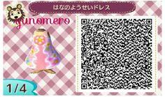 * Tobimori ゜ ゜ clothes My design ☆ flower fairy dress ☆ QR code | ☆ ゆ め め ろ ☆ コ コ ッ ト 村 * ゜ 森 ブ ロ グ ☆
