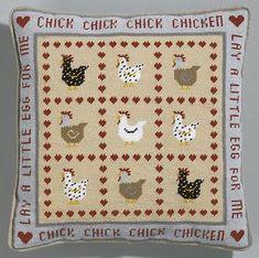 نتيجة بحث الصور عن cross stitch chicken pattern Cross Stitch Embroidery, Cross Stitch Patterns, Chicken Pattern, Farm Yard, Barns, Sheep, Magazines, Needlework, Sewing Projects