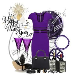 """""""happy New Year"""" by patty4u ❤ liked on Polyvore featuring Waterford, Roland Mouret, Fendi, Victoria Beckham, Bling Jewelry, Tory Burch, Fallon and Primitives By Kathy"""