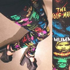 SO obsessed with these horror inspired leggings!