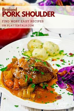 Make this pork shoulder dinner for your family today! Follow all of our boards for more simple food and recipe ideas!