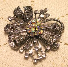 Vintage 2 Inch Brooch PIN or PENDANT with by ClothesClosetBoutiq