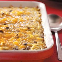 Hearty Breakfast Egg Bake Recipe from Taste of Home -- shared by Pamela Norris of Fenton, Missouri Breakfast Bake, Breakfast Dishes, Sunday Breakfast, Breakfast Casserole, Breakfast Recipes, Health Breakfast, Breakfast Healthy, Brunch Dishes, Breakfast Ideas
