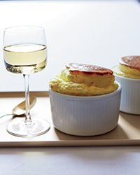 Sheep-Cheese Soufflés - For a twist on your usual cheese course, try this rich and creamy savory soufflé with a glass of sweet Riesling.
