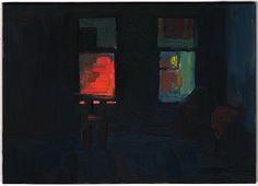 "Eleanor Ray Police Lights 2011 Oil on Panel 5 x 7"""