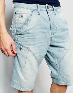 Image 3 of Jack & Jones Light Wash Anti Fit Denim Shorts