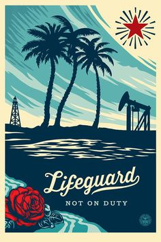 """Lifeguard Not on Duty"" by @OBEYGIANT  ON SALE TODAY @ A RANDOM TIME  58,5€  #GoodBoutique #StreetArt #StayTuned #Soon"