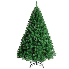 Aulola®Artificial Christmas Tree Naturally Decorated GREEN 800 Tips 7ft / 210cm Artificial Tree with Metal Stand: Amazon.co.uk: Kitchen & Home