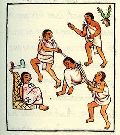 The Aztecs handed down the death penalty for serious crimes like murder and rape, but also for crimes like moving the boundary markers between property, witchcraft, defamation of character, and creating a public disturbance. Public intoxication was punishable by death, but only in the case of young offenders. Being found guilty of crimes didn't mean you automatically got the death sentence, though. Those wronged could speak up to remove the death penalty—by taking you as their slave instead.