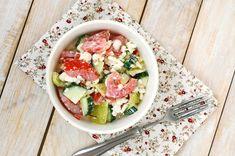 Letní salát s cottage Tuna, Potato Salad, Potatoes, Fish, Meat, Ethnic Recipes, Red Peppers, Potato, Pisces