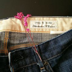 Rag and Bone Jeans Button fly closure/ Waist is 13 inches laying flat/ Inseam is 27.5 inches/ This is a reposh, it just doesn't fit me as well as I'd like rag & bone Jeans