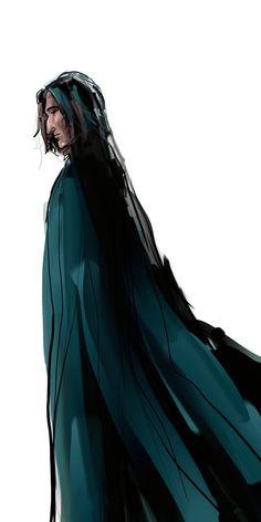 Fanart of Severus Snape from J. Harry Potter Severus Snape, Severus Rogue, Harry James Potter, Harry Potter Fan Art, Harry Potter Books, Harry Potter Characters, Harry Potter Universal, Harry Potter World, Hogwarts