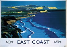 East Coast England Vintage Style Travel Poster Masterprint - AllPosters.co.uk