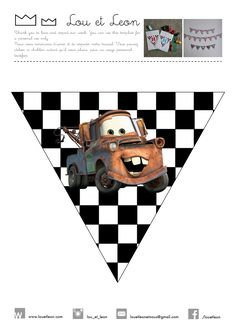 Free Banner! Free garland for your cars birthday party! Celebrate with Lighting McQueen! You can download our Cars Banner And compose your own text! Guirlande Cars à télécharger gratuitement depuis notre site! Composez votre propre texte!