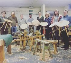 Happy side table makers.    @crafteddartington #crafts...