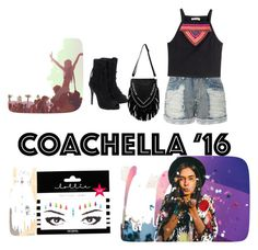 """Coachella '16 look"" by stylegirl517 ❤ liked on Polyvore featuring LE3NO, H&M and Lottie"