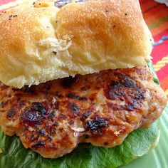 Grilled Cranberry Walnut Turkey Burger- NOTE FROM SHERRY: I make these every single weekend for my husband to have for lunch every day. Hamburgers, Turkey Recipes, Chicken Recipes, Pasta Recipes, Meat Recipes, Gourmet Recipes, Healthy Recipes, Grilling Recipes, Bariatric Recipes