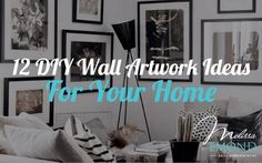 Nothing transforms a room quite like some fresh artwork, particularly if it's something you created on your own. Looking for inspiration to do just that? Here are 12 DIY wall artwork ideas that you can probably do right now, in your own home: http://www.melissaemond.com/12-diy-artwork-ideas-for-your-home/