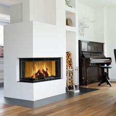 Fireplaces, Living Room, House, Inspiration, Ideas, Home Decor, Log Burner, Fireplace Heater, Fireplace Set