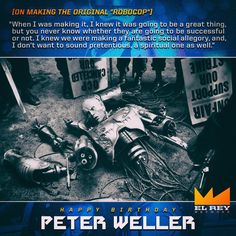 """583 Likes, 12 Comments - El Rey Network (@elreynetwork) on Instagram: """"Happy Birthday Peter Weller from @elreynetwork! #PeterWeller #BuckarooBanzai #Robocop #Screamers…"""""""
