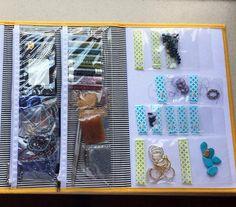 2 Panels by KIT XCHANGE Hanger Binder Storage System Planner Beads Scrapbooking Hook Loop