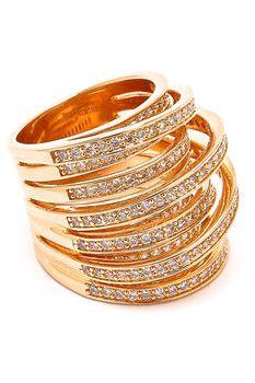 Milor Jewelry Cubic Zirconia Wrap Around Ring