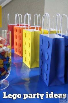 Pack 10 Film Lego À faire soi-même//Parti Sacs//Sweet Cônes//Kit//Fournitures Anniversaire Garçons Filles