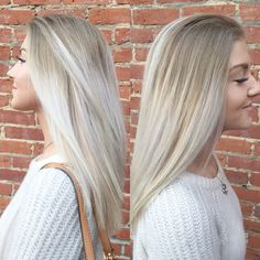 Icy blonde ombré