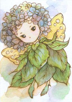 Hydrangea Sprite by aruarian-dancer