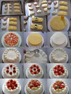 新年のデコレーションケーキ2010・レシピ ちょっとの工夫でかわいいケーキ  Ameba (アメーバ)