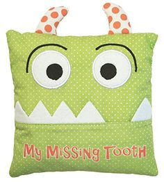 Little Boy's Green Tooth Fairy Pillow by Almas Designs * To view further for this item, visit the image link. Sewing Projects For Kids, Sewing For Kids, Baby Sewing, Sewing Crafts, Tooth Pillow, Tooth Fairy Pillow, Green Teeth, Little Boy Blue, Sewing Pillows
