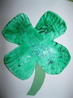 paper plate shamrock craft | Crafts and Worksheets for Preschool,Toddler and Kindergarten