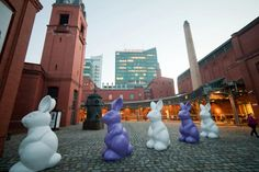 Easter bunnies in the Old Brewery
