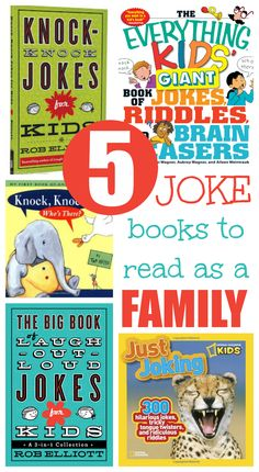 5 silly joke books to keep your family laughing.