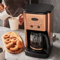 Shop Cuisinart Brew Central Programmable Coffee Maker, 12 Cup and more from Sur La Table! Filter Coffee Machine, Coffee Maker Machine, Cappuccino Machine, Drip Coffee Maker, Latte Art, Nespresso, Drinking Black Coffee, Pod Coffee Makers, Coffee Brewer