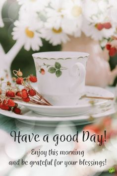 Have a good day! Enjoy this morning and be grateful for your blessings!