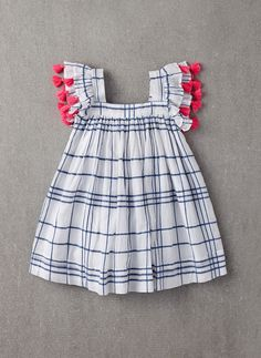 Nellystella Chloe Dress in Blue Check - PRE-ORDER