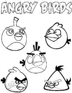Angry Birds Coloring Books Colouring Pages