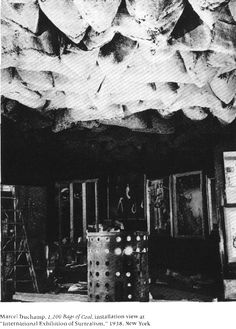 Marcel Duchamp, '1,200 Sacks of Coal' - installation view at the 1938 International Exhibition of Surrealism, New York