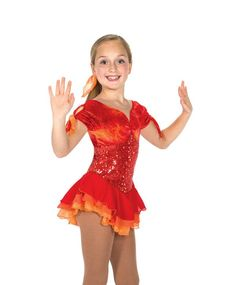 Jerry's Skating Dress 161 Fan the Flames Dress Children Size 8-10 to 12-14 And Adult Small