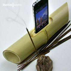 İBamboo Speaker - Bambu Akustik Iphone Ses Yükseltici