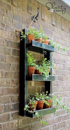 """Easy project from the sweets sisters at Shanty2Chic! DIY:: """"Simple And Cheap""""Hanging Garden Planter !!"""
