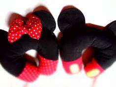 DIY: Almofada do Mickey e Minnie p/ viagem c/porta celular parte 1